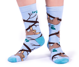 WOMENS-CREW NOVELTY-SLOTH-SOCKS