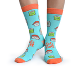 WOMENS-CREW NOVELTY-SUSHI-SOCKS