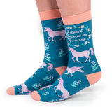 WOMENS-CREW NOVELTY-UNICORN-SOCKS1