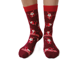 YOGA SANTA CHRISTMAS GREETING CARD AND NOVELTY SOCKS