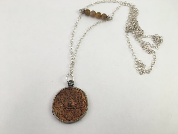 Meditation Buddha Coin Necklace