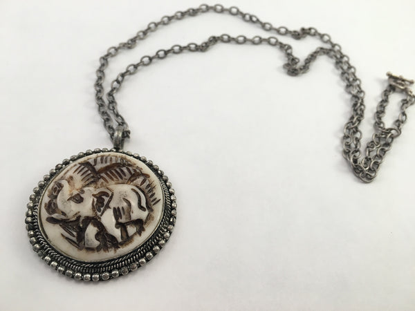 Coat of Arms Elephant Necklace