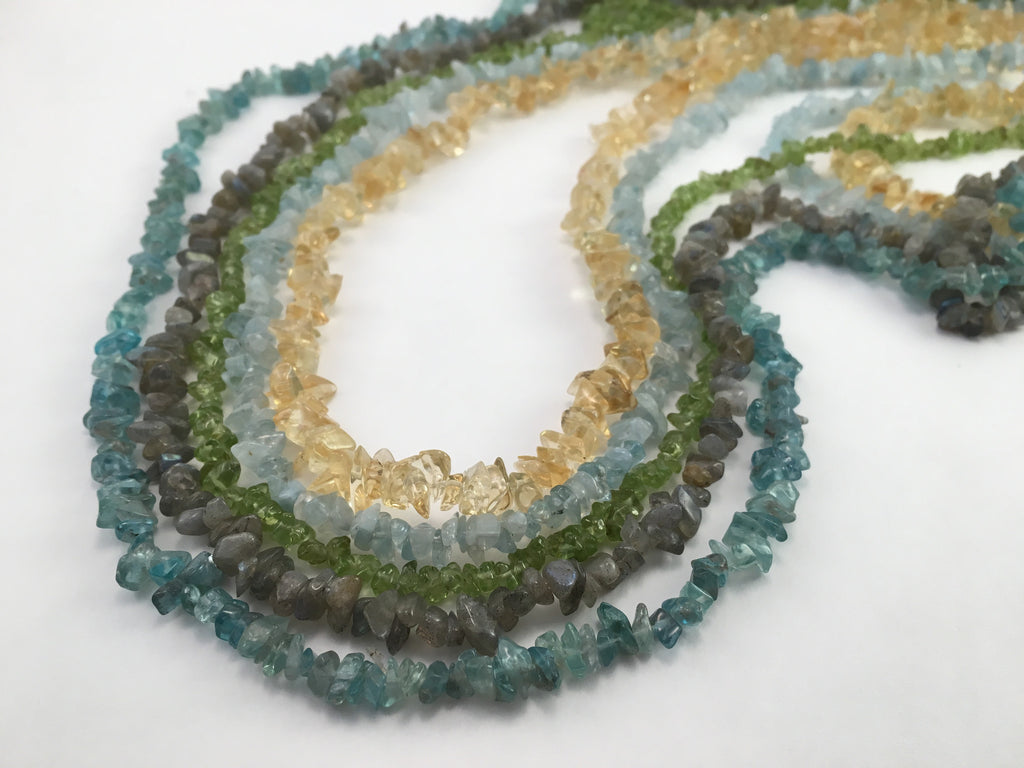 Semi-Precious Gem Nugget Necklaces