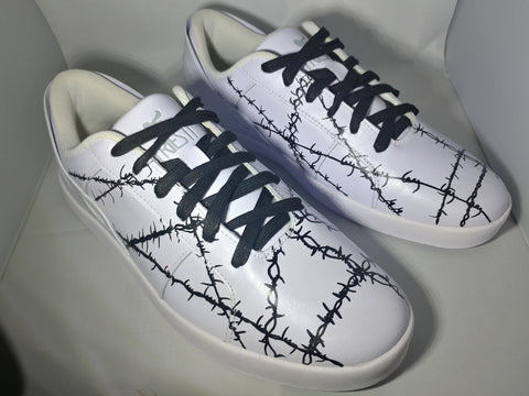 Triesti sneakers barbed wire design