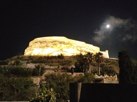Gozo Citadel at night