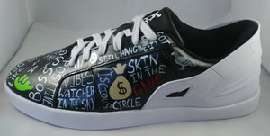 Triesti shoes: Black & White Graffiti