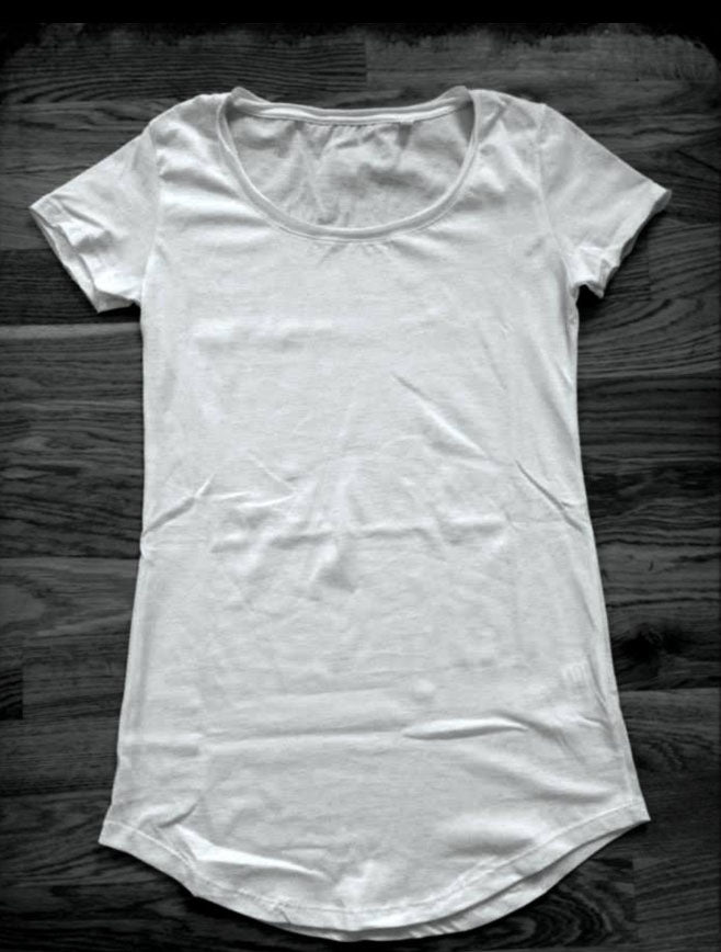 Women's short sleeve, long t-shirt - Made in Italy