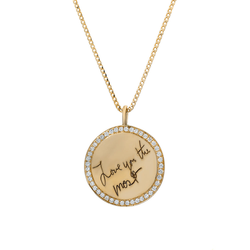 Engravable Disc With Diamonds_