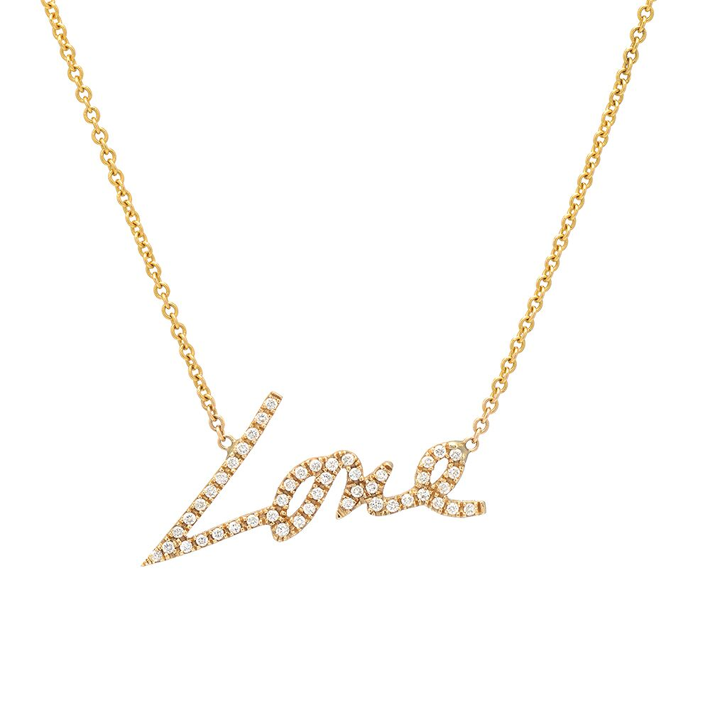 Stevie Love Necklace With Diamonds_