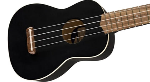 Fender Venice Soprano Ukulele in Black