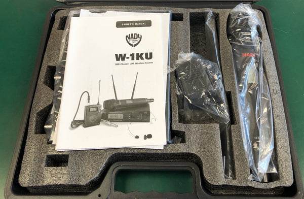 Used Nady W-1KUHT Wireless Mic System
