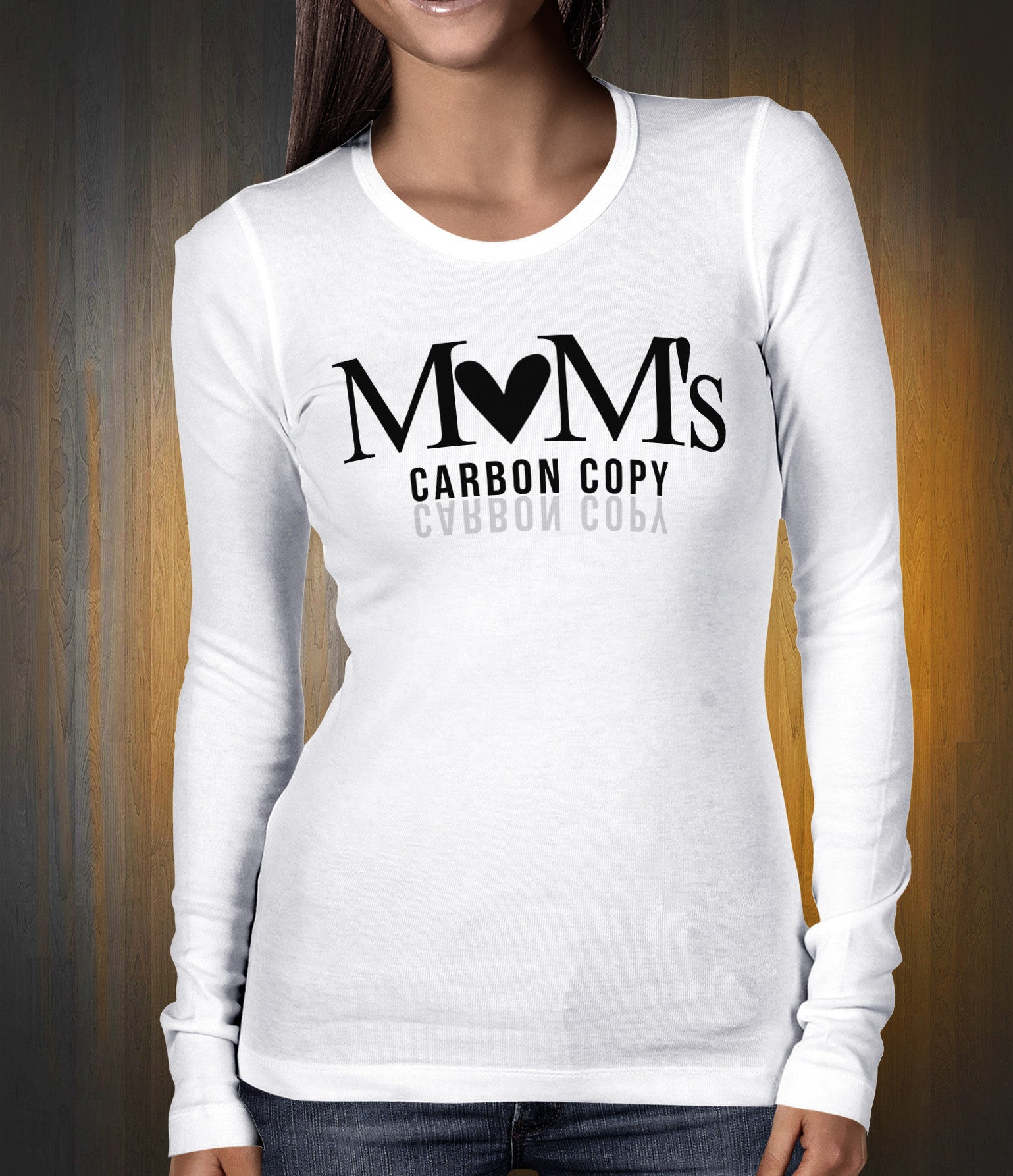 Mom's Carbon Copy Crew Neck Long Sleeve