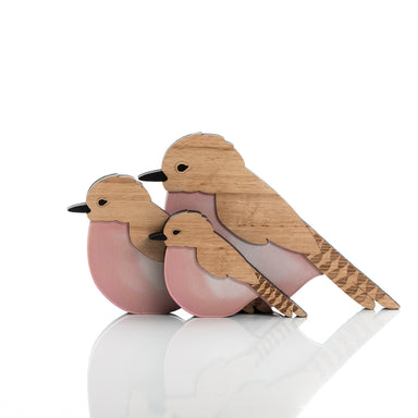 Coco the Fantail Cuckoo Bird (set of 3).