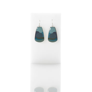 Pebbles - Petal dangly earrings