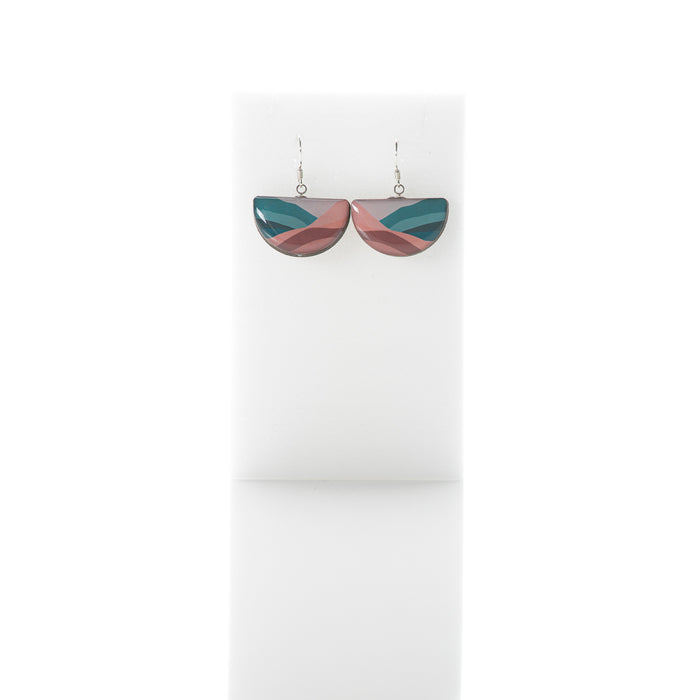 Sunrise - Arc dangly earrings