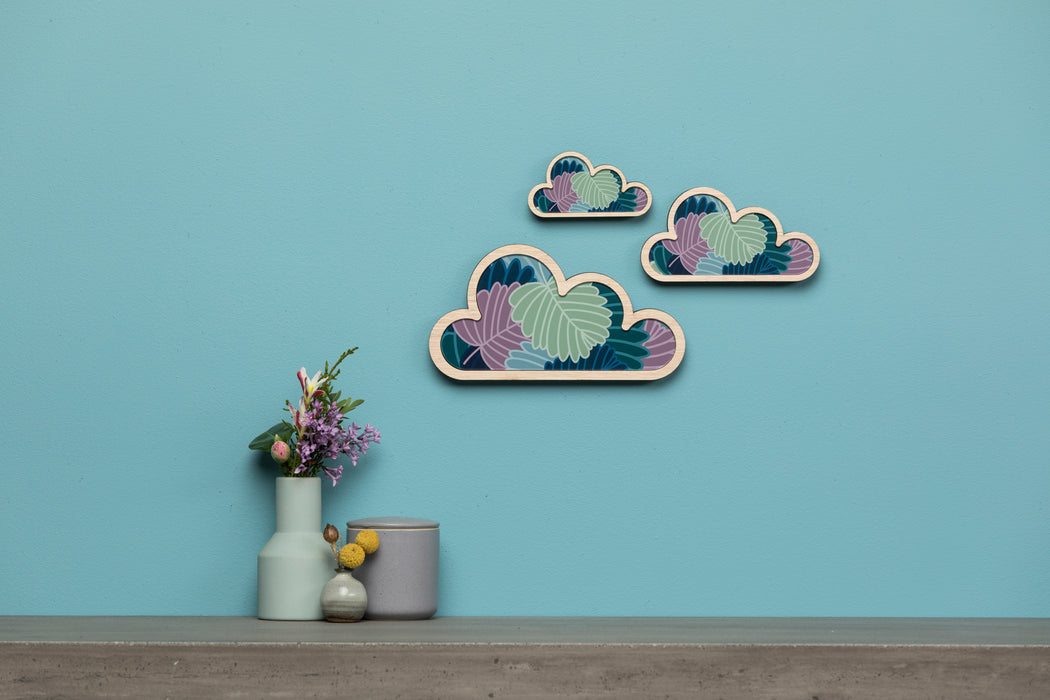 Fagus Cloud Art: set of 3.