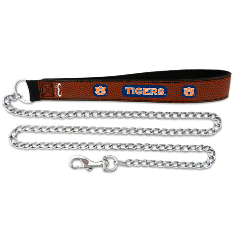 Auburn Tigers Football Leather 2.5mm Chain Leash