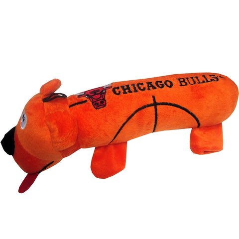 Chicago Bulls Plush Squeaky Dog Tube Toy
