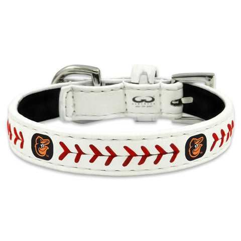 Baltimore Orioles Classic Leather Toy Baseball Collar