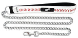 Chicago White Sox Baseball Leather 3.5mm Chain Leash