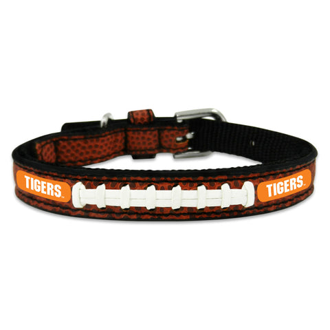 Clemson Tigers Classic Leather Toy Football Collar
