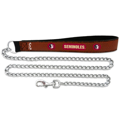 Florida State Seminoles Football Leather 2.5mm Chain Leash