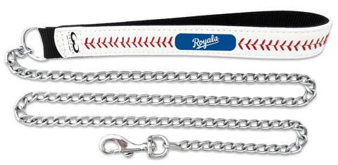 Kansas City Royals Baseball Leather 3.5mm Chain Leash