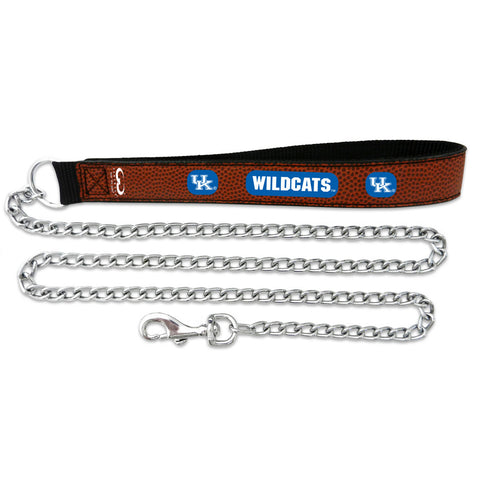 Kentucky Wildcats Football Leather 2.5mm Chain Leash