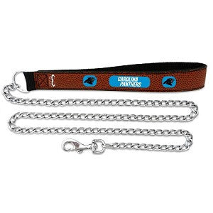 Carolina Panthers Football Leather 3.5mm Chain Leash