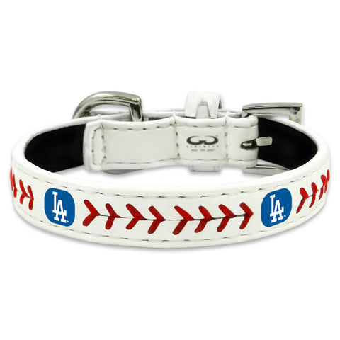 Los Angeles Dodgers Classic Leather Toy Baseball Collar