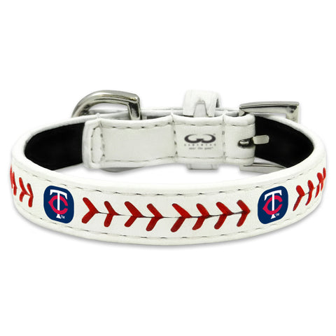 Minnesota Twins Classic Leather Toy Baseball Collar