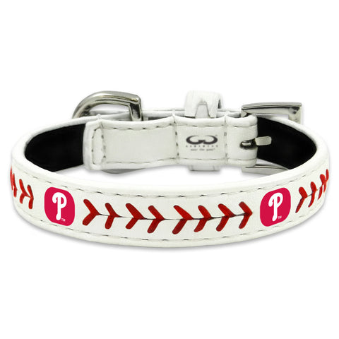Philadelphia Phillies Classic Leather Toy Baseball Collar