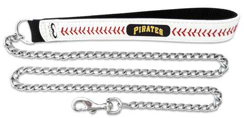 Pittsburgh Pirates Baseball Leather 3.5mm Chain Leash