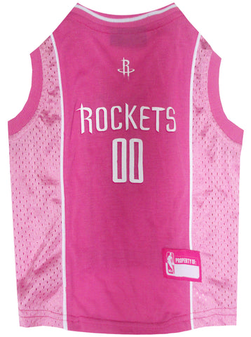 Houston Rockets Pink Dog Jersey