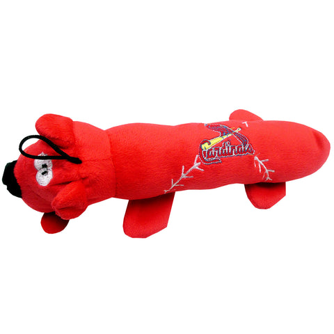 St. Louis Cardinals Plush Squeaky Dog Tube Toy