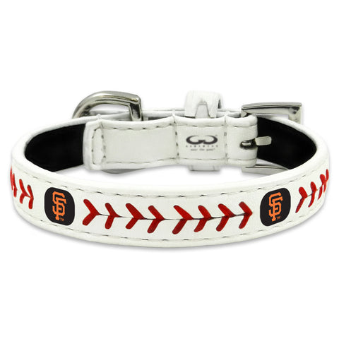San Francisco Giants Classic Leather Toy Baseball Collar