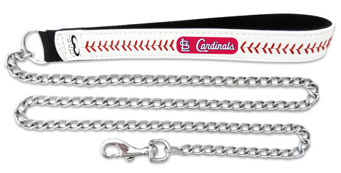 St. Louis Cardinals Baseball Leather 3.5mm Chain Leash