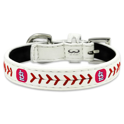 St. Louis Cardinals Classic Leather Toy Baseball Collar