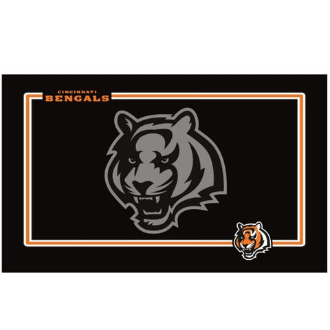 Cincinnati Bengals Black Pet Bowl Mat (New!)