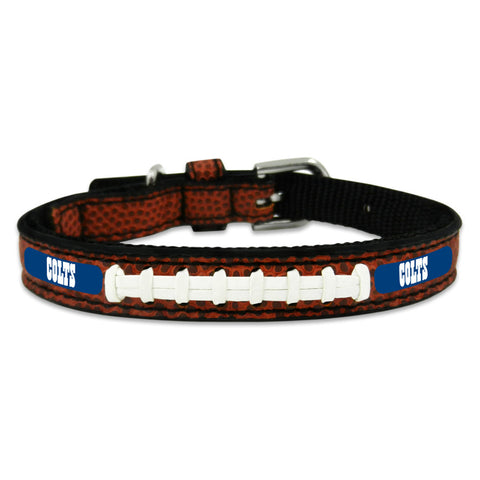 Indianapolis Colts Classic Leather Toy Football Collar