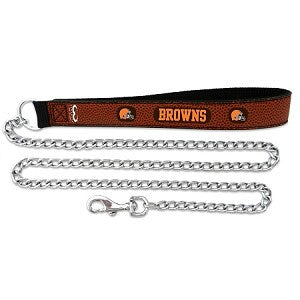 Cleveland Browns Football Leather 2.5mm Chain Leash