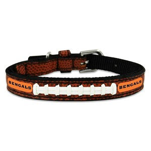 Cincinnati Bengals Classic Leather Toy Football Collar