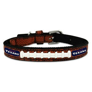 Houston Texans Classic Leather Toy Football Collar