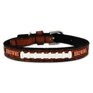Cleveland Browns Classic Leather Toy Football Collar