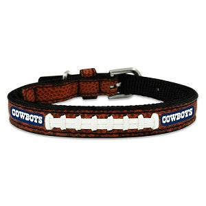 Dallas Cowboys Classic Leather Toy Football Collar