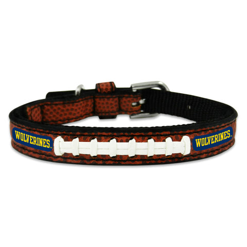 Michigan Wolverines Classic Leather Toy Football Collar