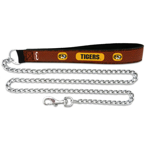 Missouri Tigers Football Leather 2.5mm Chain Leash