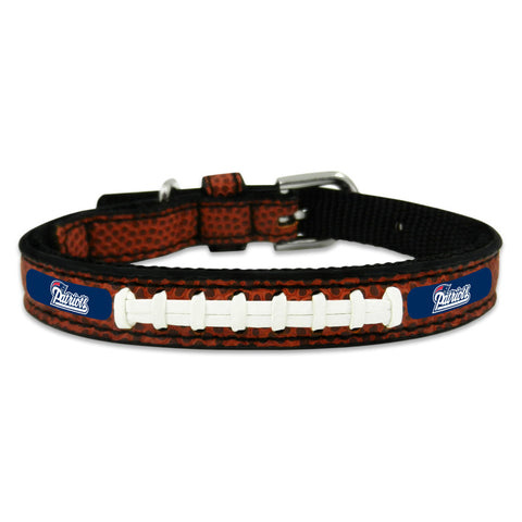 New England Patriots Classic Leather Toy Football Collar
