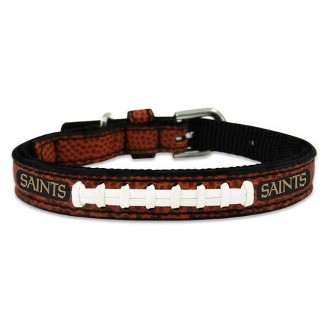New Orleans Saints Classic Leather Toy Football Collar