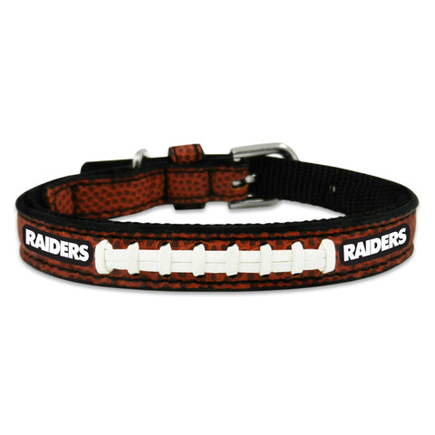 Oakland Raiders  Classic Leather Toy Football Collar